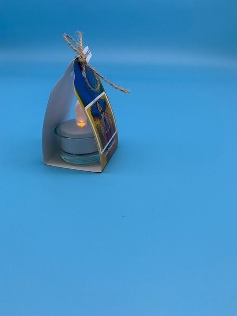 Losung 2022 mit LED-Licht im Glas