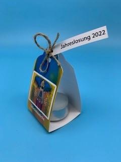 Losung 2022 mit Teelicht